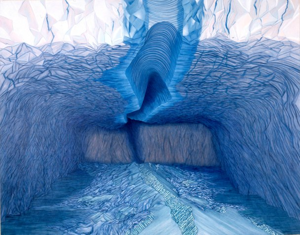 Ice Cave, 1990, Oil on linen, 1830x2290mm