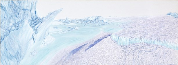 Ice Spur , 1990. Oil on linen. 840x2290mm