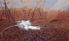Whirlwind and ash trees. 1993-95. Oil on linen, 137x228cm