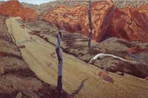 Dry Creek, rockfall . 1992-96. Oil on linen. 152x228cm.