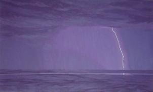 Lightning, Wyndham . 1995-97. Oil on linen. 138x228cm