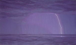Lightning, Wyndham . 1995-97. Oil on linen. 138x228cm