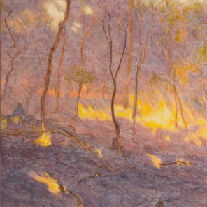 Firefront, evening, 2007 Dimensions: 137x97 cm Acrylic on linen