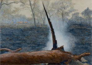Fallen tree with spike, 2007 Dimensions: 97x137cm Acrylic on linen