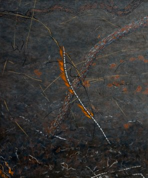 Burning Stick 1, 2007 Dimensions: 91x76 cm Acrylic on linen
