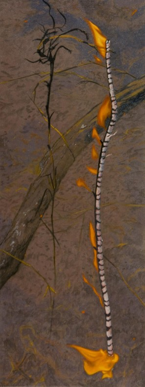 Burning Stick 2, 2007 Acrylic on linen Dimensions: 107x40 cm