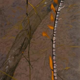 Burning Stick 2, 2007 Acrylic on linen Dimensions: 107x40 cm