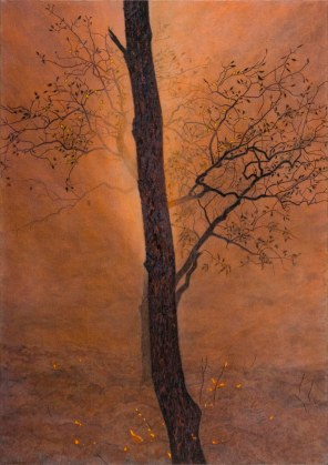 Silhouetted trees, 2007 Dimensions: 137x97 cm Acrylic on linen