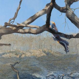 Burning Branch 1, 2007 Dimensions: 193x152 cm Acrylic on linen