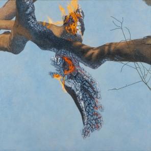Burning Branch 2, 2007 Dimensions: 150x150 cm Acrylic on linen
