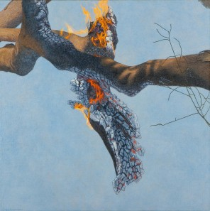 Burning Branch 2, 2007 Dimensions: 150x150 cm Acrylic on linen